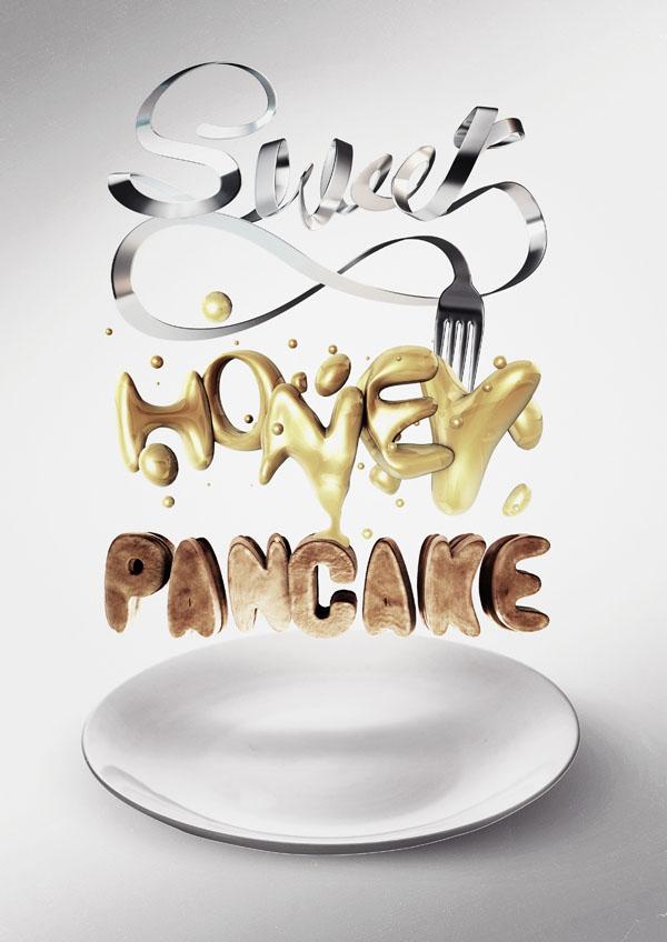 9-sweet-honey-pancake-typography