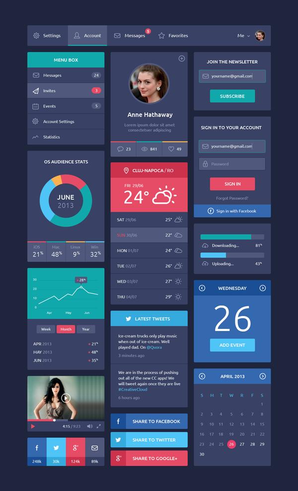Flat-Design-UI-Helloodesigner