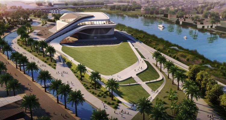 Le grand théâtre du Rabat par l'architecte Zaha Hadid