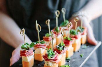 design culinaire apéritif fin d'année