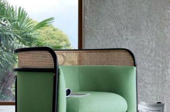 décoration d'intérieur meuble en cannage fauteuil