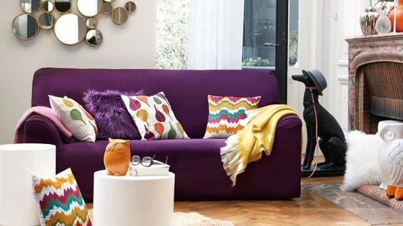 Canapé-violet-coussin-couleurs-tendance-deco-2019