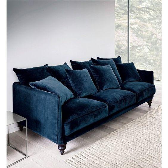 canapé bleu nuit tendance décoration meuble