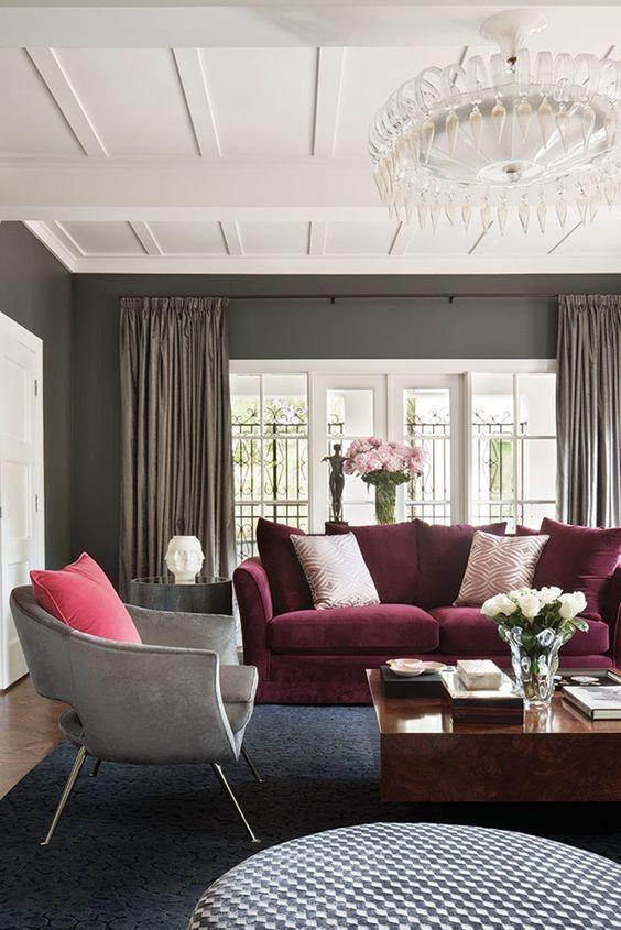 canapé bordeaux tendance décoration meuble