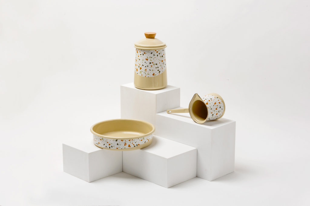 collection d'art de la table terrazzo