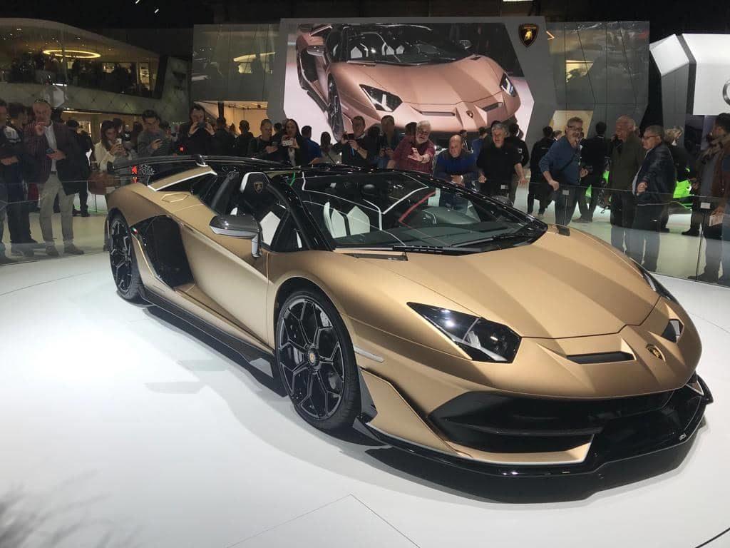 Lamborghini Aventador SVJ Roadster salon d'automobile de geneve 2019