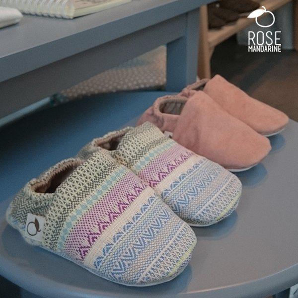 chaussure enfant fait main en cuir par rose mandarine