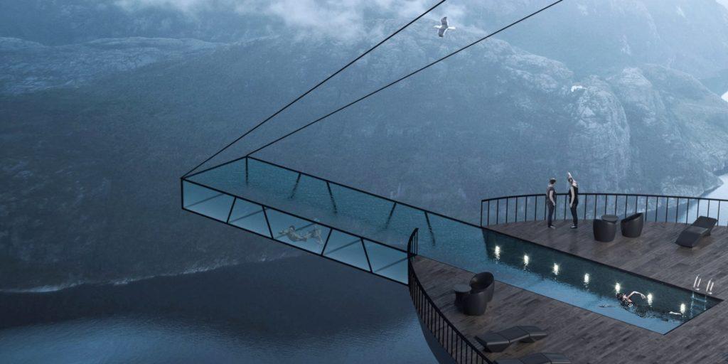hotel de luxe au norvège conçu par l'architecte  Hayri Atak