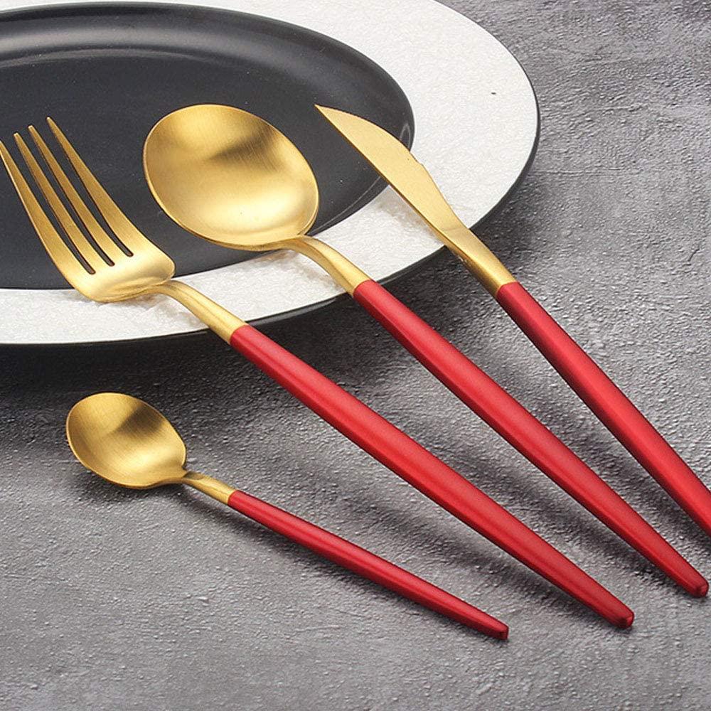 couvert en rouge et or pour noël